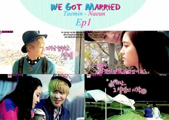"""الحلقة الاولى من برنامج """"لقد تزوجنا""""    WGM Ep 1 """" Taemin-Naeun"""